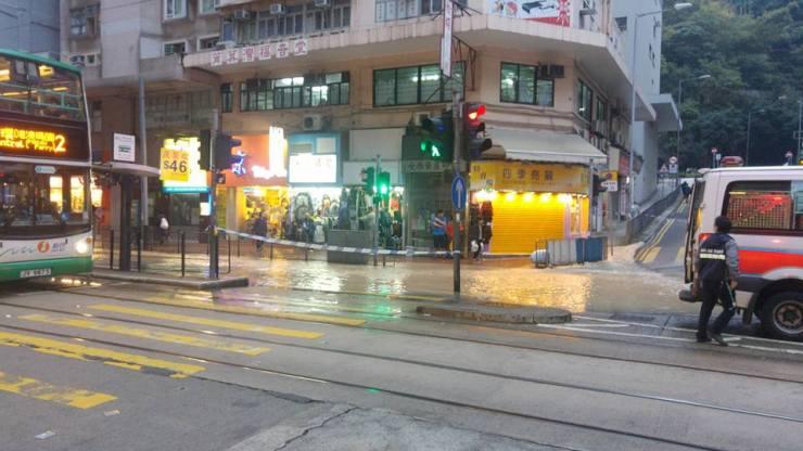 Flood in To Kwa Wan
