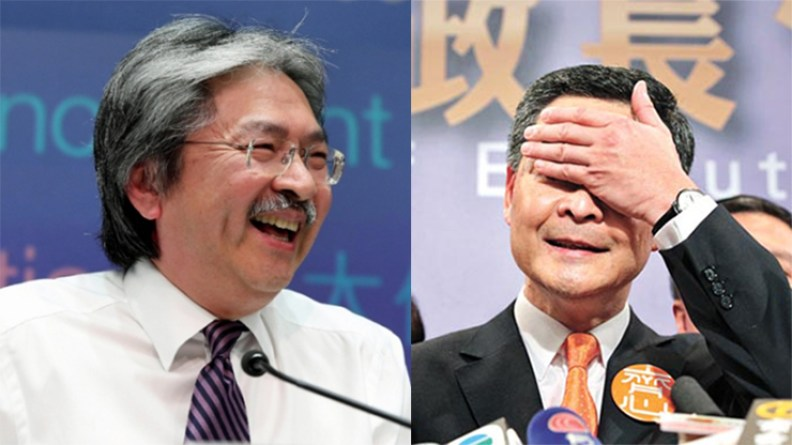 John Tsang and Leung Chun-ying.