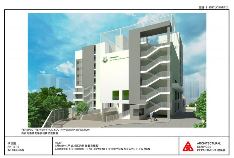 The proposed new school building.