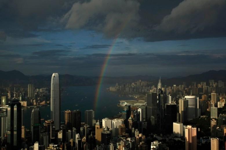 rainbow victoria harbour