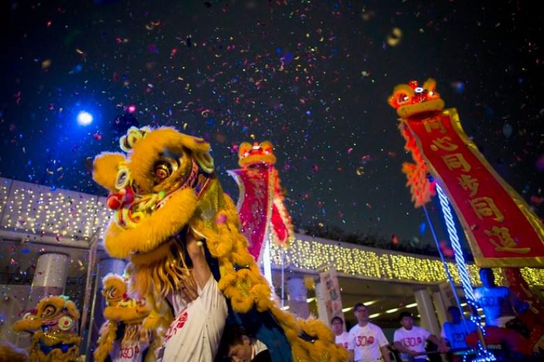 lion dance chinese new year tsim sha tsui