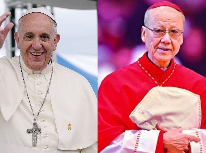pope francis cardinal john tong hon catholic