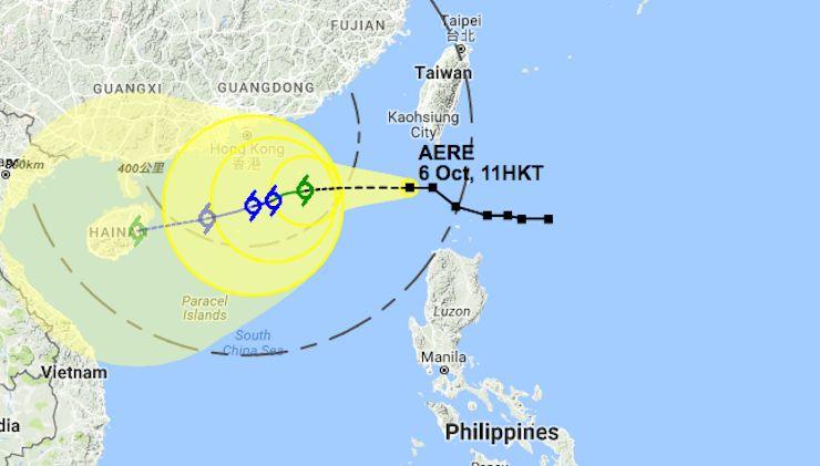 weather hong kong typhoon