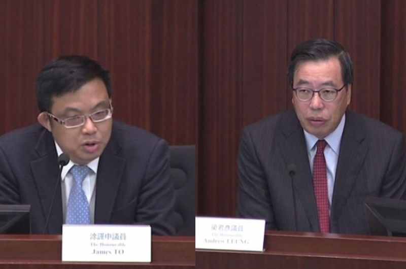 LegCo president debate James To Andrew Leung