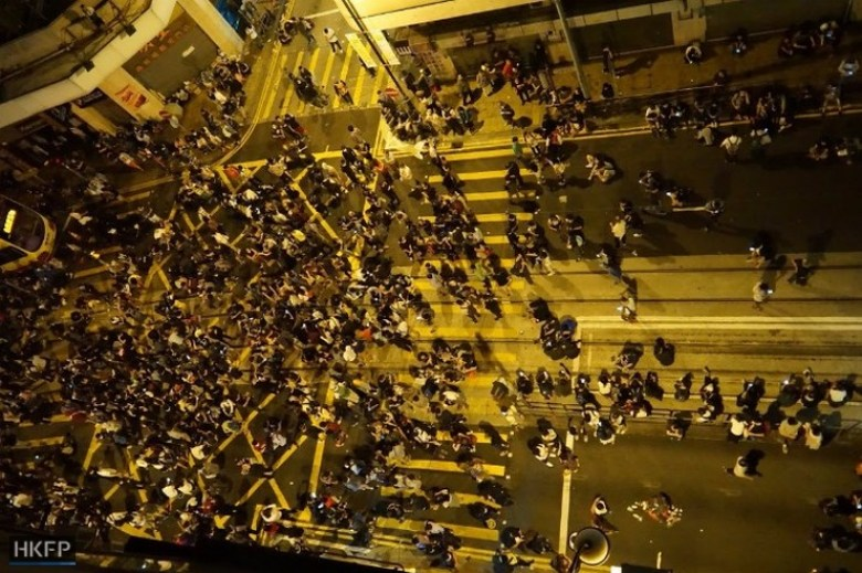 basic law protest sheung wan independence