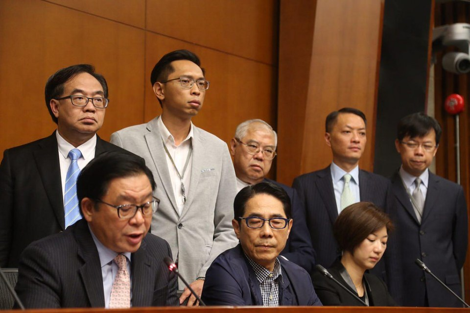 pro-beijing lawmakers