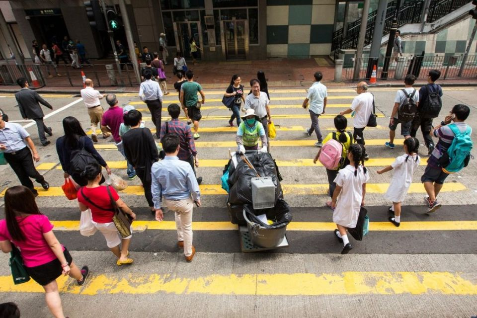 Street cleaner Hong Kong confederation of trade unions