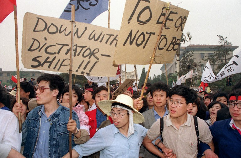 protest tiananmen square massacre crackdown 1989