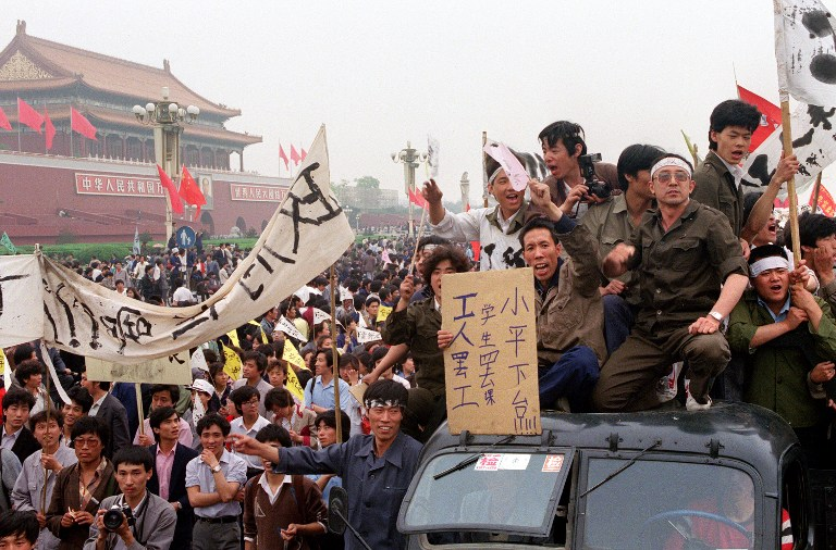 men car tiananmen square massacre crackdown 1989