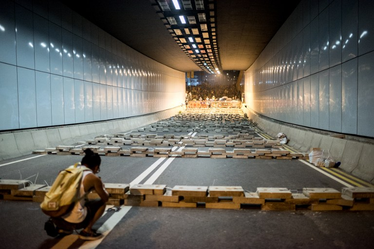 tunnel democracy occupy hong kong protest