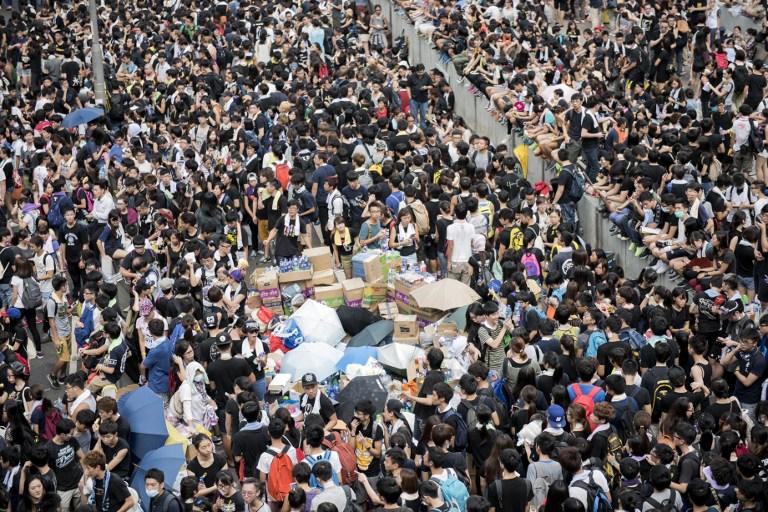 democracy occupy hong kong protest umbrella