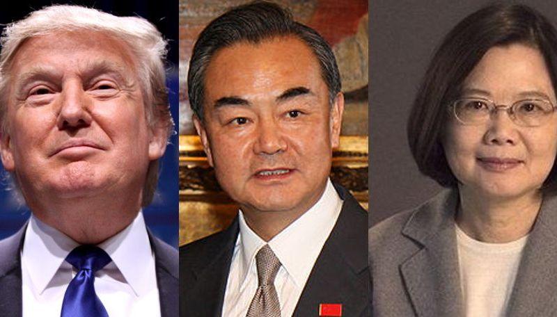 Donald Trump, Wang Yi and Tsai Ing-wen.