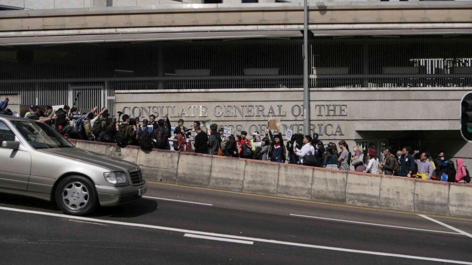 trump immigration ban protest hong kong