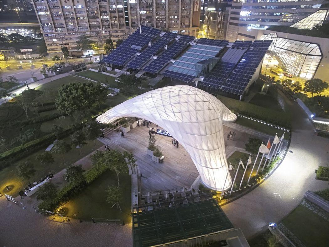 ZCB Bamboo Pavilion CUHK Chinese University of Hong Kong architecture Kowloon Bay