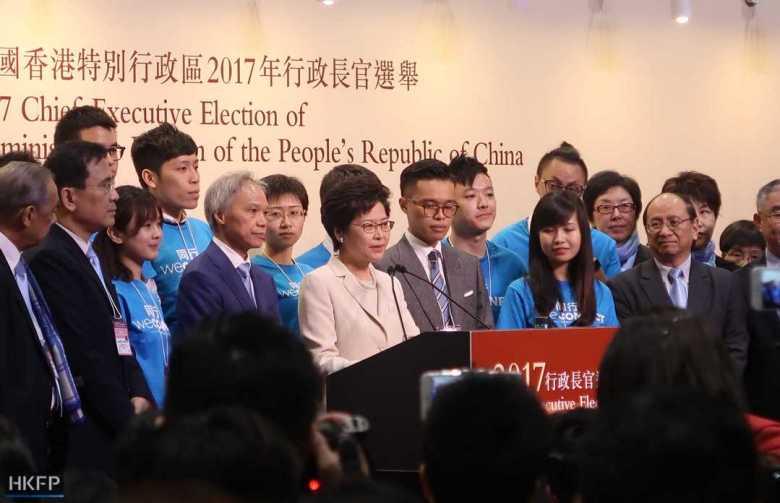 chief executive election 2017 John Tsang, Carrie Lam and Woo Kwok-hing
