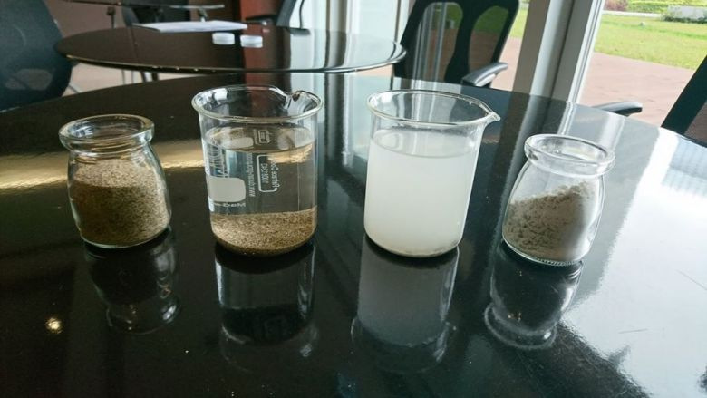 stone powder water