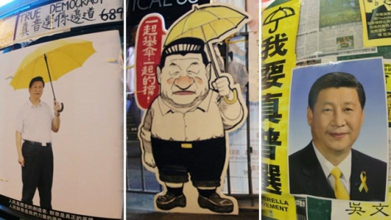 xi jinping yellow umbrella
