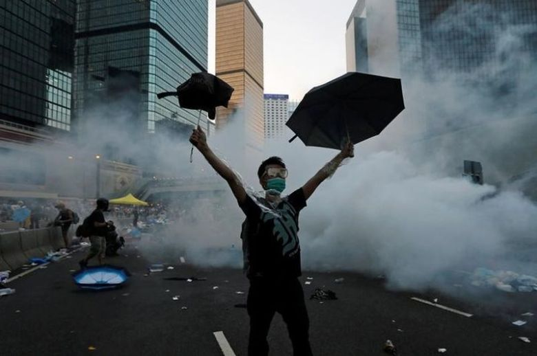 Occupy Central Umbrella Movement Tear Gas