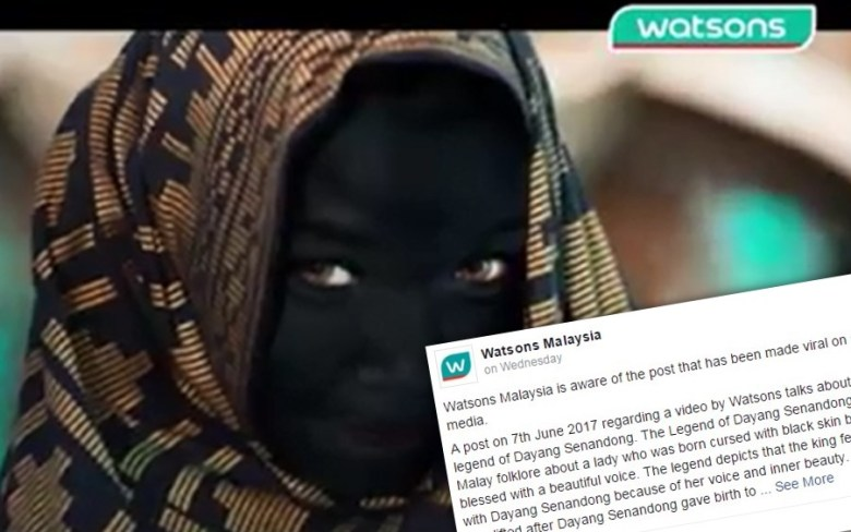 watsons malaysia racist blackface