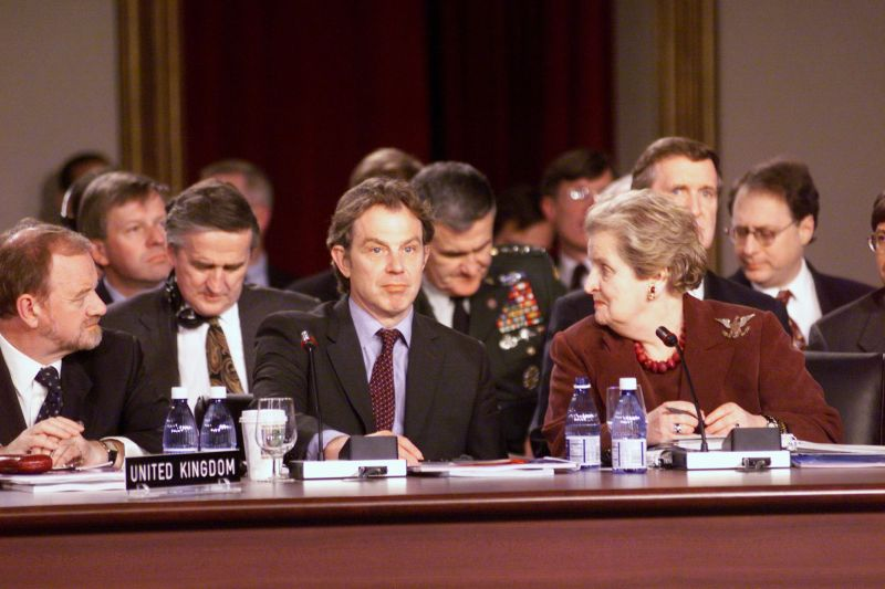 Tony Blair Madeleine Albright