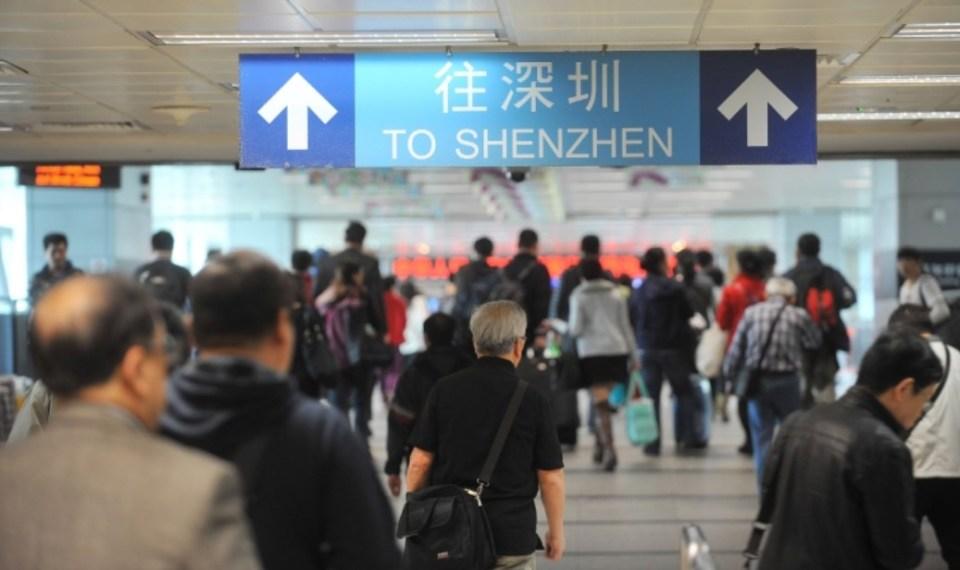 travel border shenzhen crossing departure