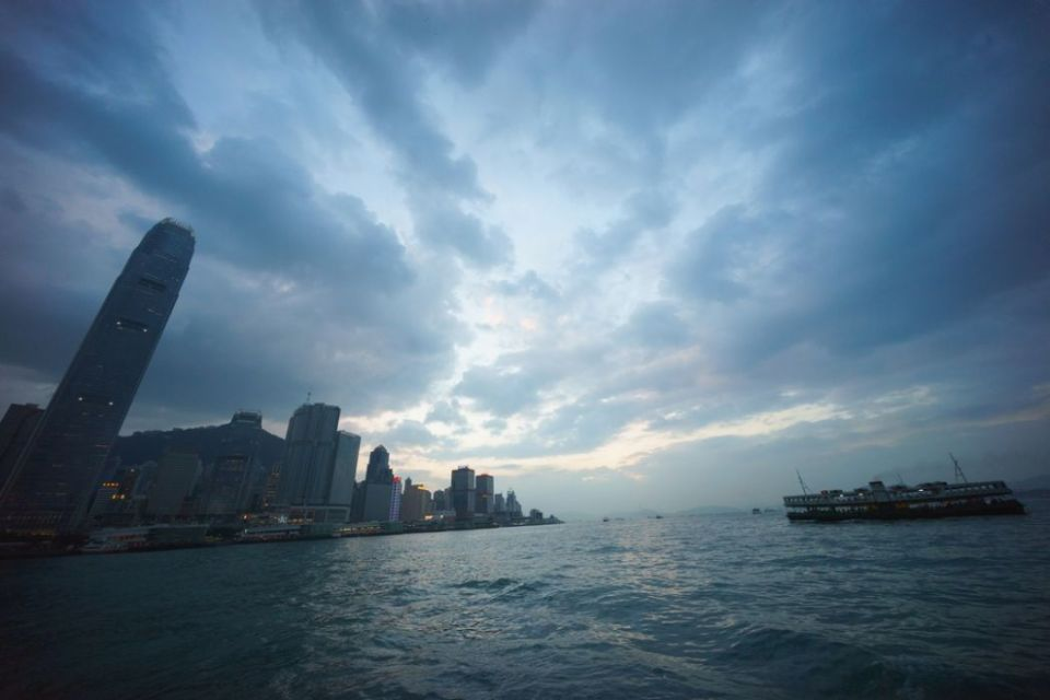 central skyline hong kong ifc sunset