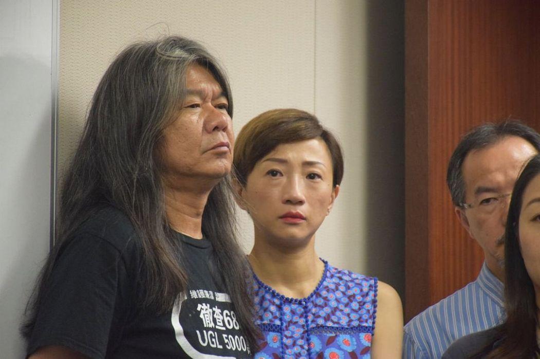 Leung Kwok-hung and Tanya Chan