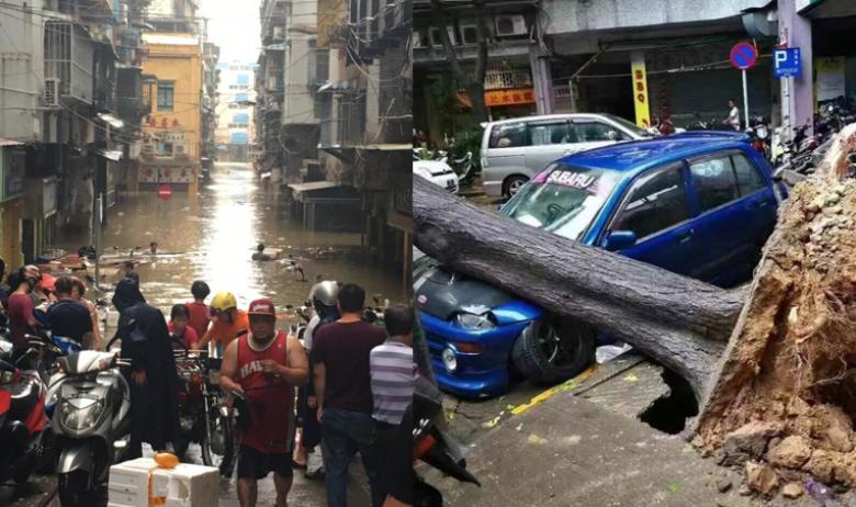 macau typhoon hato