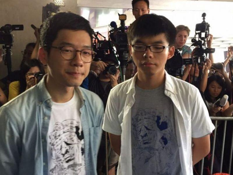 Nathan Law and Joshua Wong