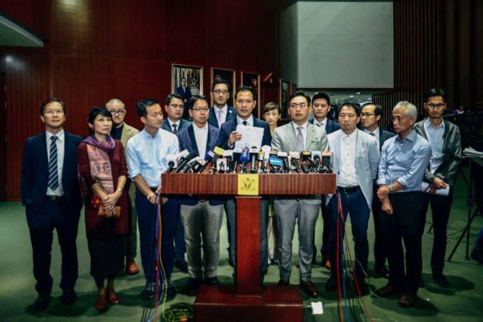 Pro-democracy camp lawmakers
