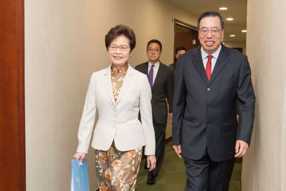 Carrie Lam and Andrew Leung