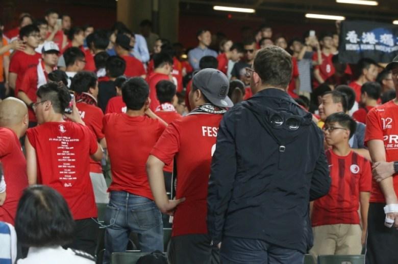 Hong Kong fans boo national anthem