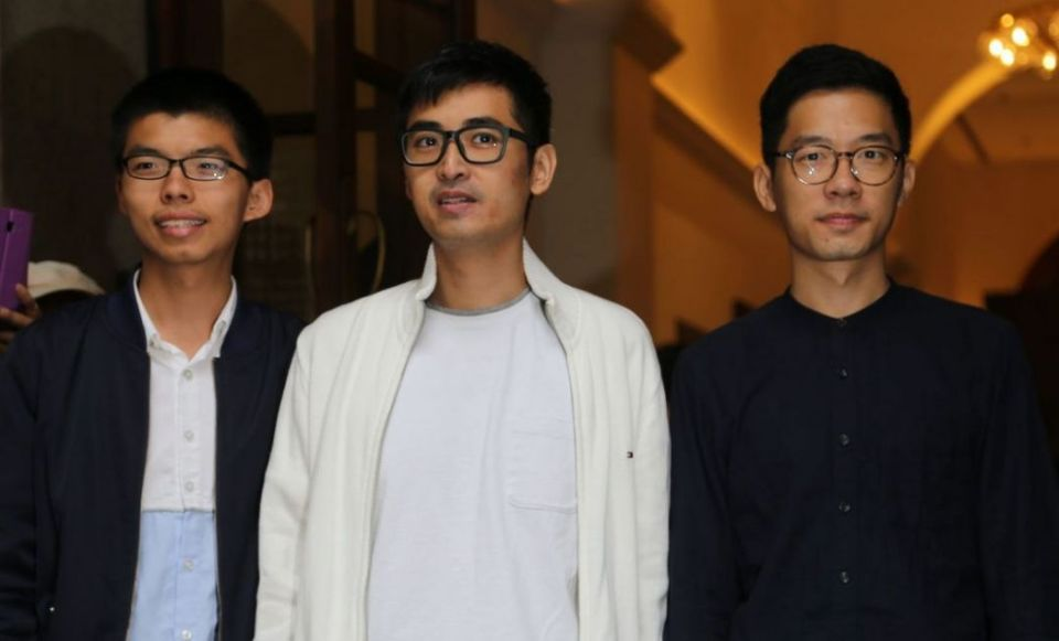 Joshua Wong, Alex Chow and Nathan Law