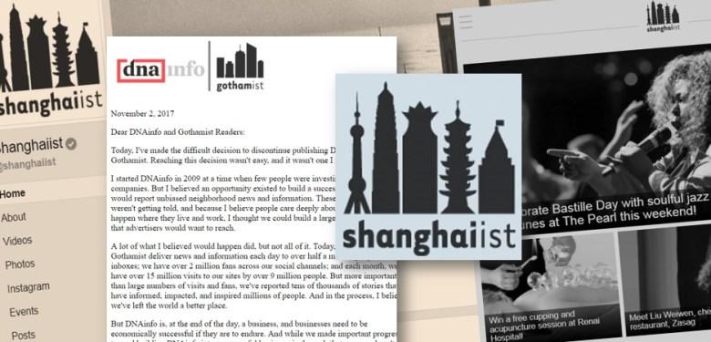 shanghaiist closed deleted