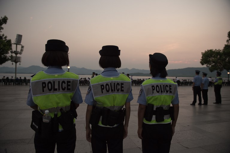 Police officers in China