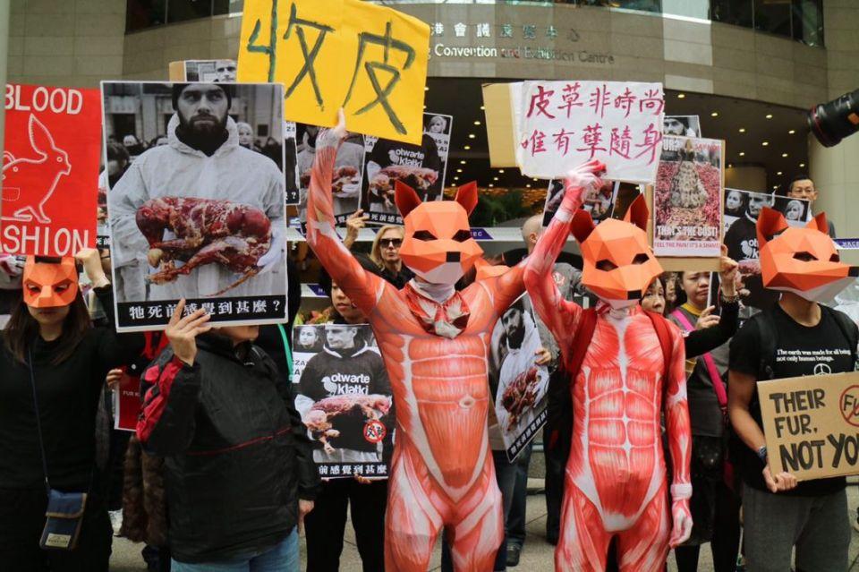 Fur Fair Hong Kong Protest