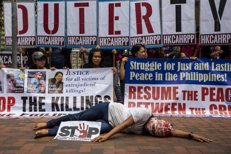 Philippines President Rodrigo Duterte protest