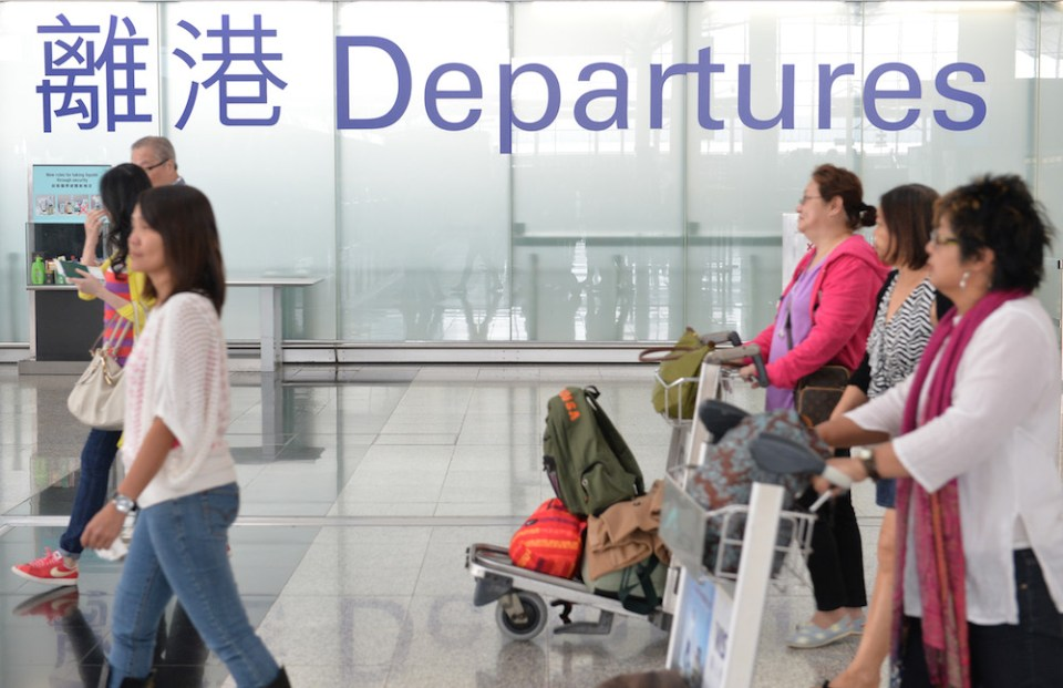 hong kong airport emigration departures