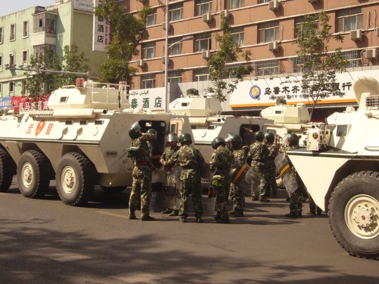 Xinjiang police in Urumqi