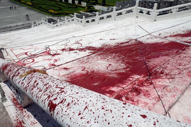 Chiang Kai-shek blood protest