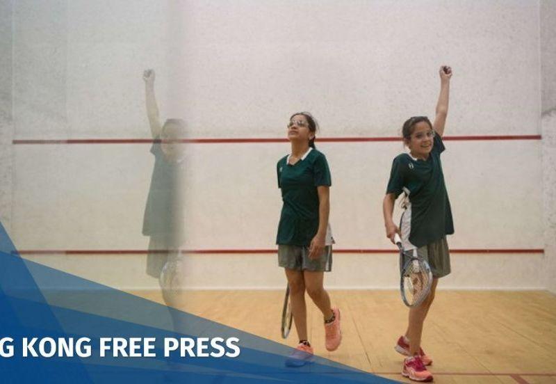 Syrian girls Hong Kong squash