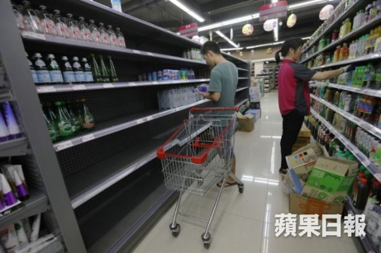 Macau bottled water mangkhut