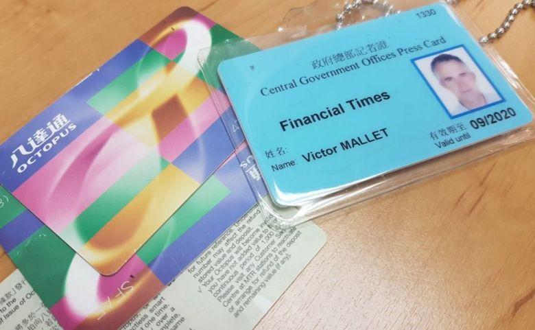 victor mallet press card