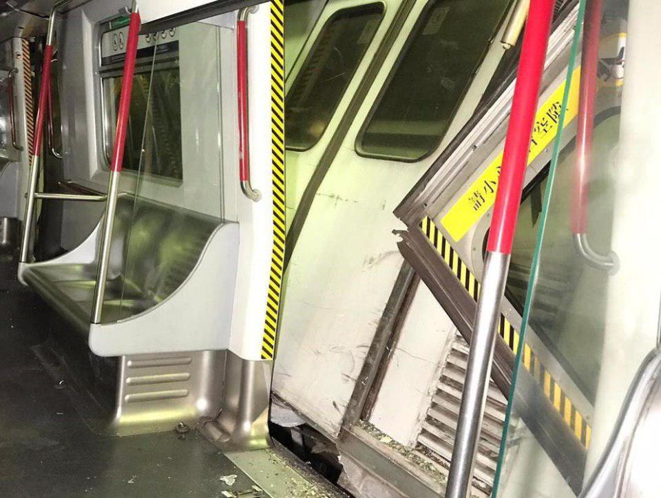 MTR Central station train collision