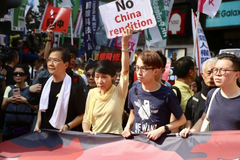 Extradition law protest rally march
