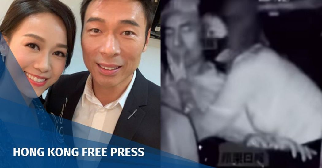 Actress Jacqueline Wong and singer Andy Hui.