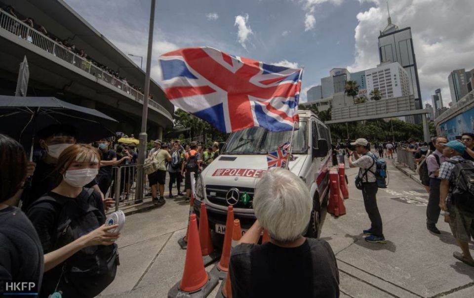 june 21 extradition protest isaac yee uk flag british