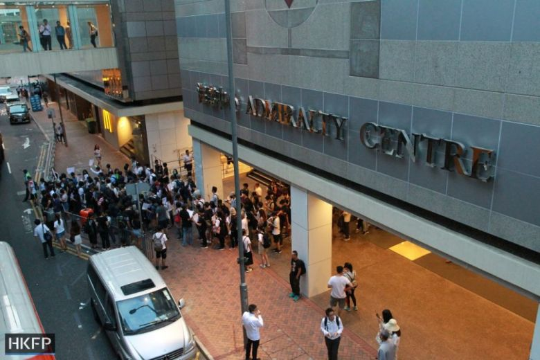 admiralty centre protest