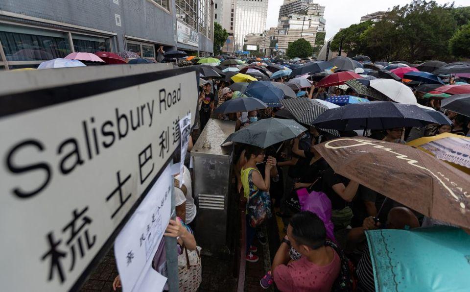 Salisbury Road July 14 Sunday anti-extradition protest Mong Kok Tsim Sha Tsui Nathan Road