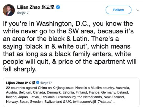 Zhao Lijian racist